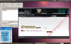 Screenshot applikasi Windows berjalan di Linux Ubuntu
