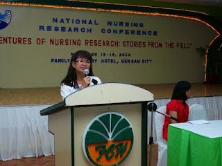 Dr. Grace Belo of West Visayas State University