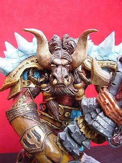 orme magiche scultori modellismo action figure sciamano tauren world of warcraft modellini videogames rpc da colorare personalizzati regali artigianali