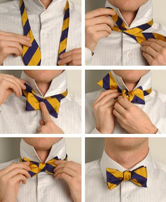 You can learn How to Tie a Tie to be precise a Windsor Knot with the very