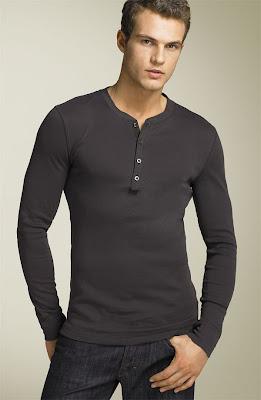 Henley Shirt Mens Fashion