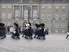 The changing of the guard at Amalienborg