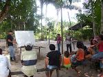 Trabalhos realizados na comunidade Cupuaçu, Barcarena, Brasil