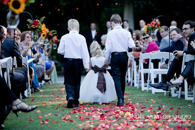 kids walking down the aisle