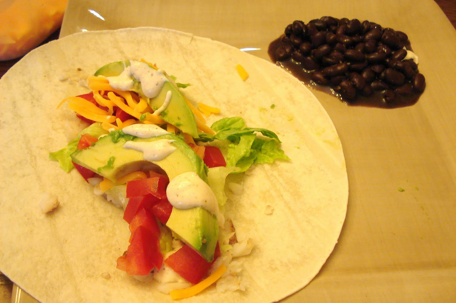 Thrifty living fish taco recipe for Fish taco recipie