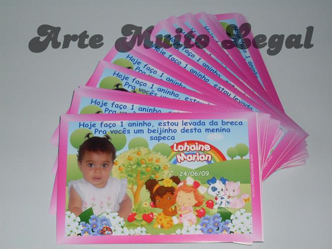 Convites infantis baby moranguinho