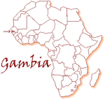 The Gambia in Africa