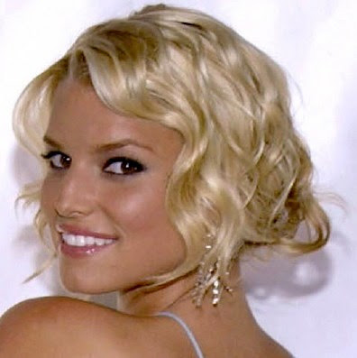 Jessica Simpson's With White Short Hair Style