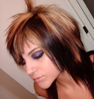 Dark Hair Color Underneath. red hair with blonde underneath. long lack hair with londe