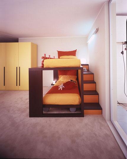 Decoracion de recamaras juveniles infantiles tipo loft for Decoracion de cuartos infantiles