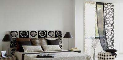 Cortina blanco y negro fotos de cortinas decoraci n con - Cortinas en blanco y negro ...