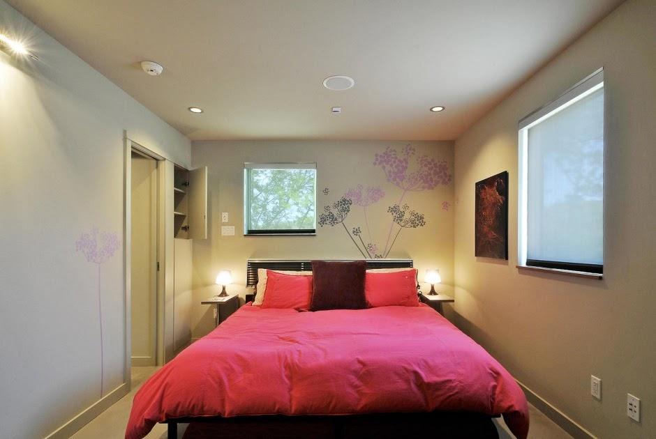 Decoracion dise o dormitorio peque o con cama grande for Feng shui cama matrimonial