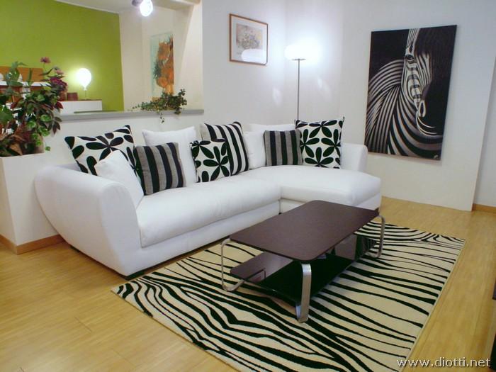Sala cebra zebra living salas y comedores decoracion de for Salas chiquitas modernas