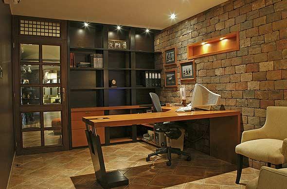 Oficina rustica y elegante karim chaman fotos de for Estilos de oficinas modernas