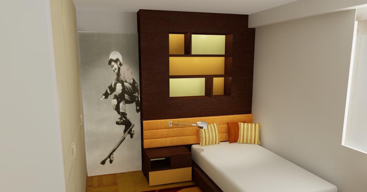 Dormitorio juvenil que crece con tu hijo en tonos for Dormitorio 10m2