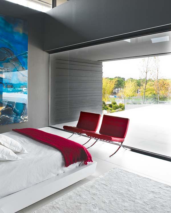Elegante dormitorio moderno amplio e iluminado mervin - A cero joaquin torres ...