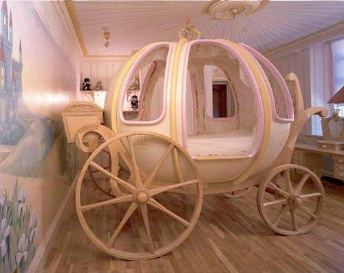 carruaje para dormitorio de niñas princesitas