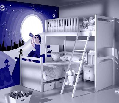 Habitaciones empapeladas juveniles decoraci n de for Adhesivos para habitaciones