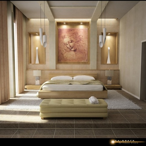 Bedroom Cream Colour Designs