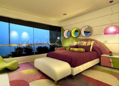 Dormitorio Courtney Dormitorio-para-jovencitas-adolescentes-ni%C3%B1as-verde-lila