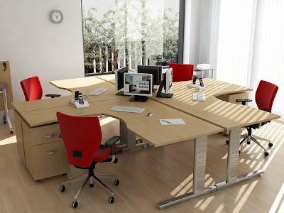 Modulos de oficina para 4 personas fotos de oficinas y for Decoracion para escritorios de oficina