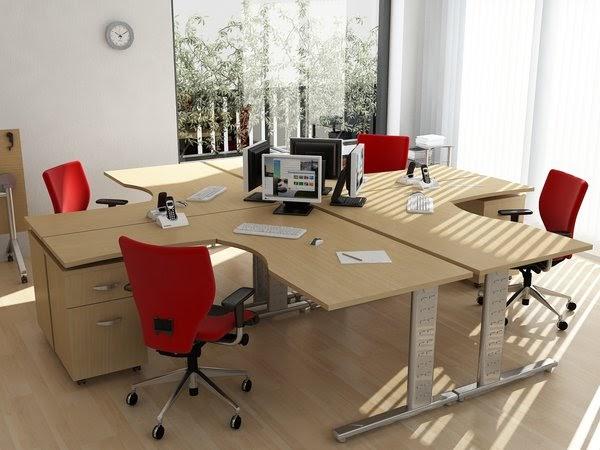 Modulos de oficina para 4 personas fotos de oficinas y for Sillas de madera para escritorio