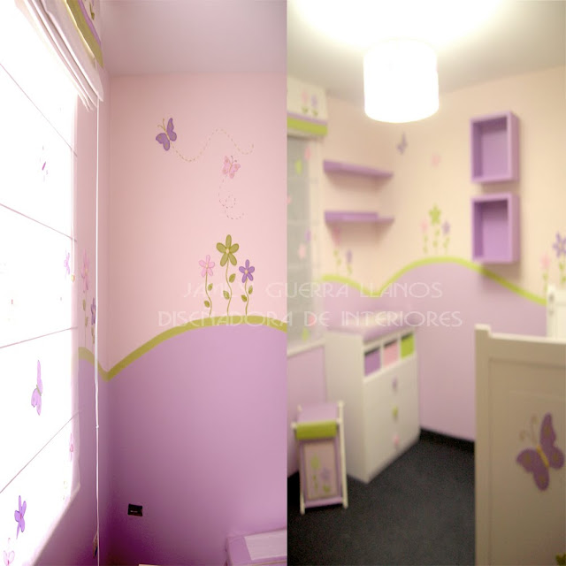 Dormitorios con mariposas ideas para decorar el cuarto de - Decorar dormitorio nina ...