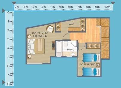 Planos de casas gratis y departamentos en venta plano de for Plano departamento 2 dormitorios