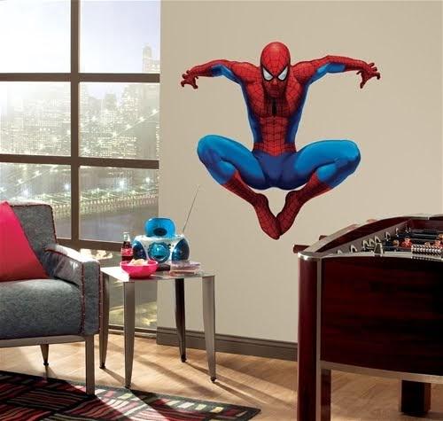 Dormitorio spiderman panel for Murales adhesivos