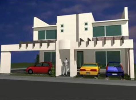 Fachadas de viviendas bifamiliares de 2 pisos con garaje for Fachadas de viviendas