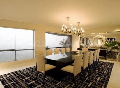 Sala moderna elegante y lujosa con amplio comedor video Decoracion casas modernas elegantes