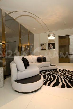 Designs omah ideas sala moderna elegante y lujosa con for Alfombras de sala modernas