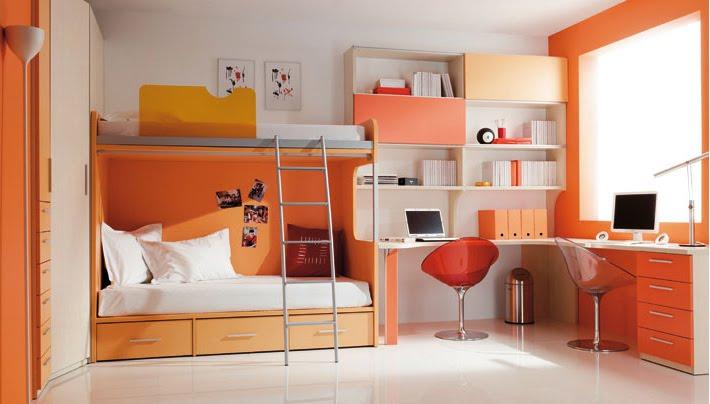 Pon linda tu casa febrero 2010 for Dormitorio naranja