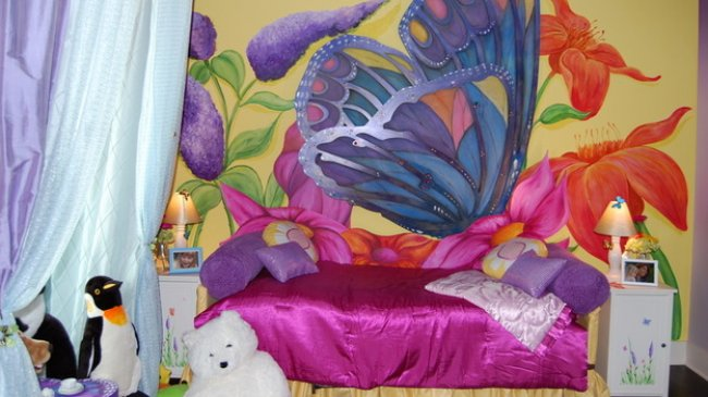Bedroom Decor With Butterfly Makeover
