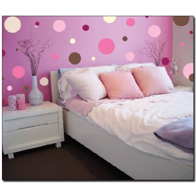 Dormitorios con stickers murales vinilos adhesivos pegatinas for Dots design apartment 8