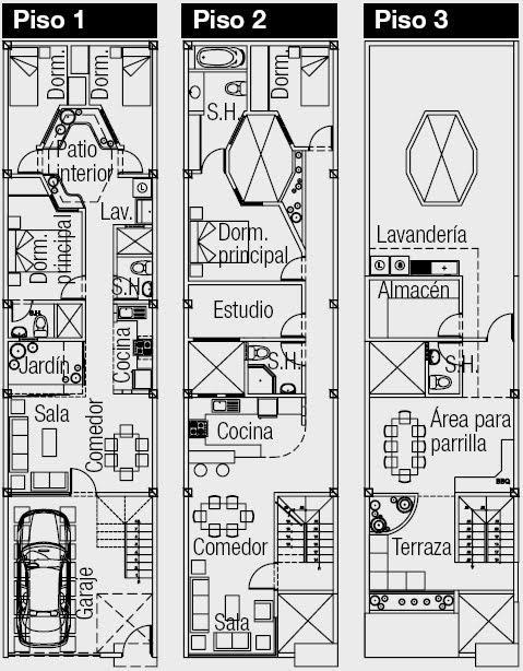 planos de casas 5 x 25