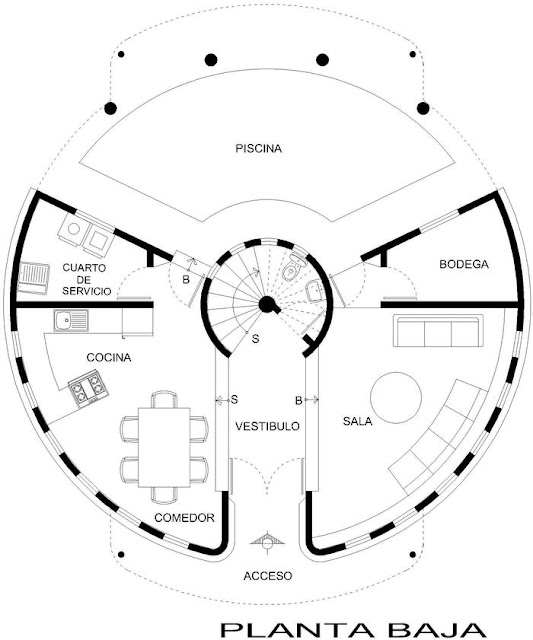 Planos Circulares Planos De Casa on small house floor plans