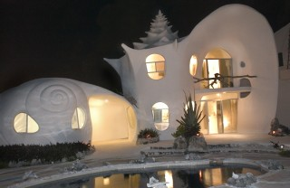 fachada casa caracol noche - World most beautiful houses...(D M 3)