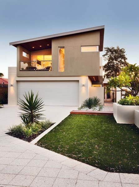 Fachadas de casas bonitas y modernas fachadas de casas y for Casas medianas bonitas
