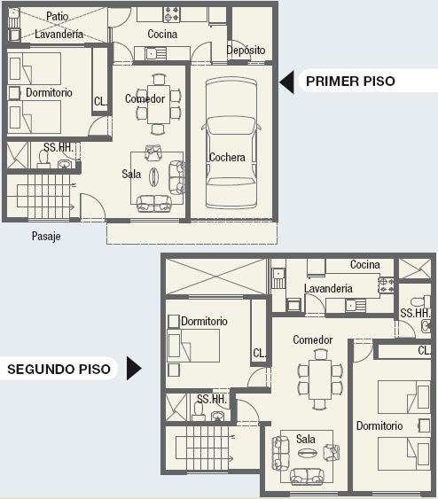 Dibujos planos de minidepartamentos planos para casas y for Planos arquitectonicos de casas gratis