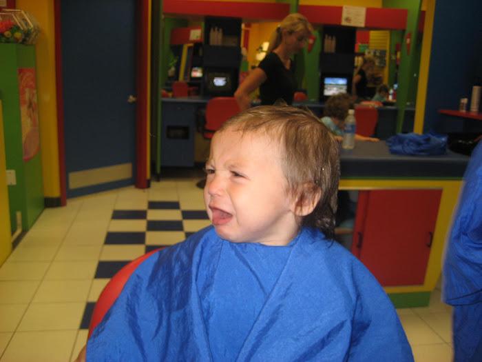 Matty's first hair cut 4-4-08