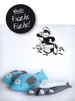 raumdinge kaufladenzubeh r selber machen nr 6 fische aus filz. Black Bedroom Furniture Sets. Home Design Ideas