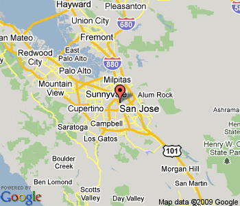 San Jose California Map Usa - San jose california map