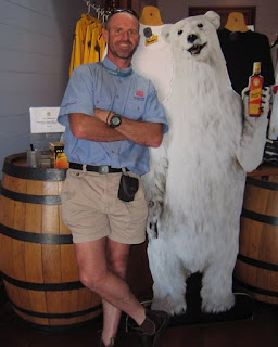 Rob at the Bundy Rum distillery