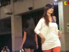 """Angie Jibaja reaparece en el """"Desfile de la Estación Central"""""""