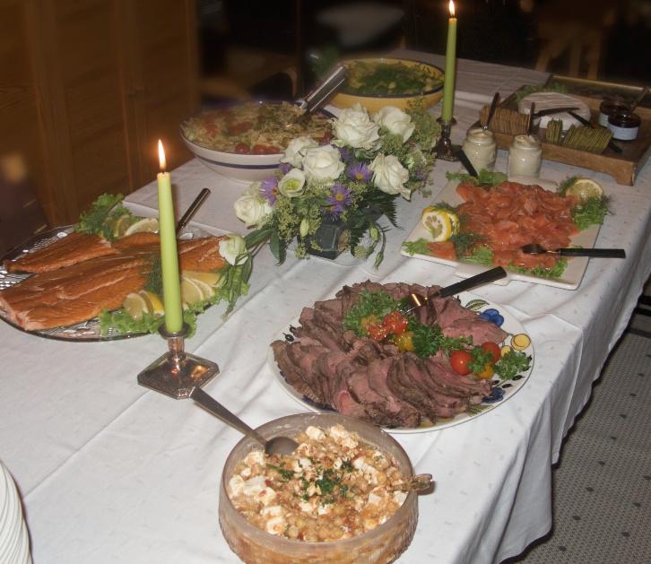 Buffet ruokaa juhliin