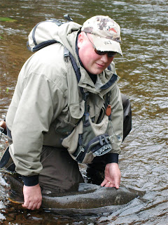 A fall run fish from the Salmon River in the USA