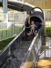 Johnny & Zion on White City's water slide!