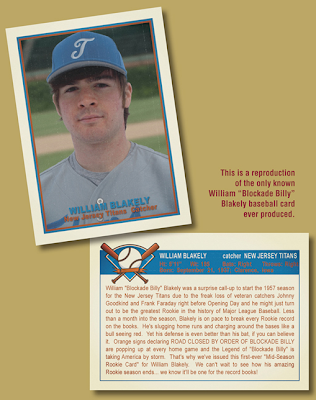 Blockade Billy first printing Limited Baseball Card