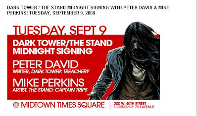 Dark Tower; Treachery/The Stand; Captain Trips MIDNIGHT SIGNING Midtown Comics